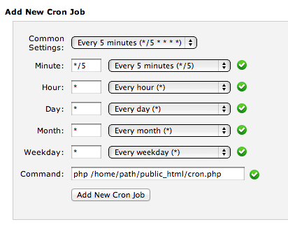 How to setup a Cron Job in cPanel for Magento