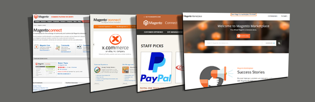 Magento Marketplace Webdesigns Through Ages