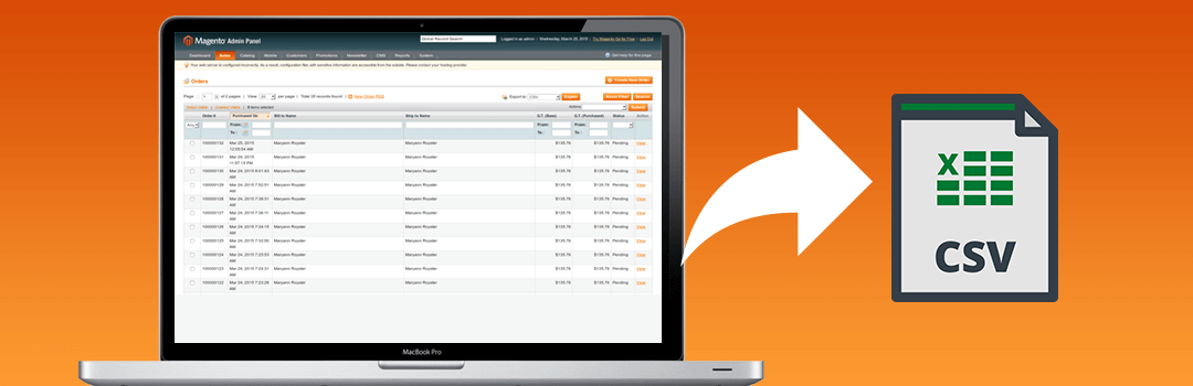 img How to Export Magento Sales Order Customer Data to Excel File Programmatically