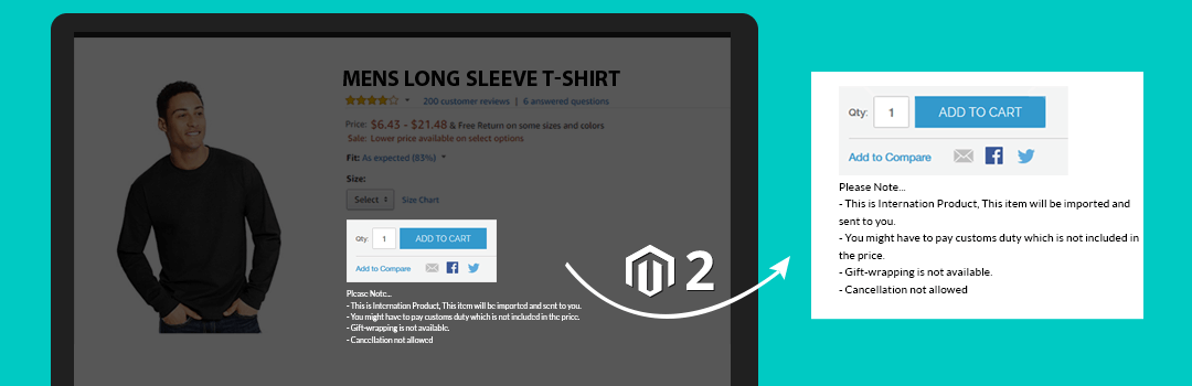 How to Add Block After Add to Cart Button in Magento 2 Product page
