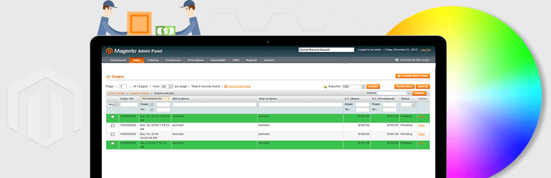 How To Change Admin Sales Order Grid Row Color Base on COD payment method in magento