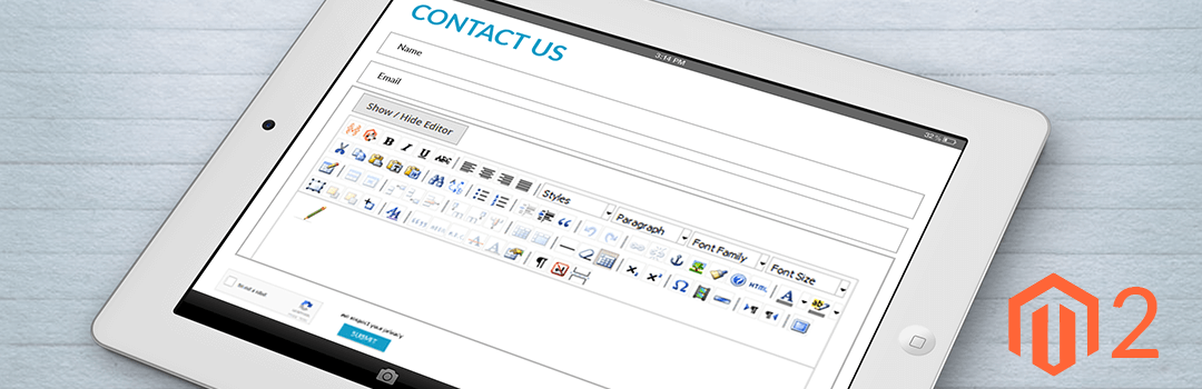 How to replace Simple textarea with WYSIWYG editor in contact us page of Magento 2