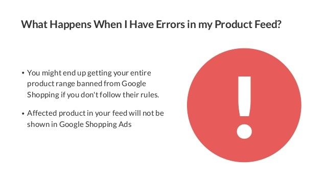 error in product feed