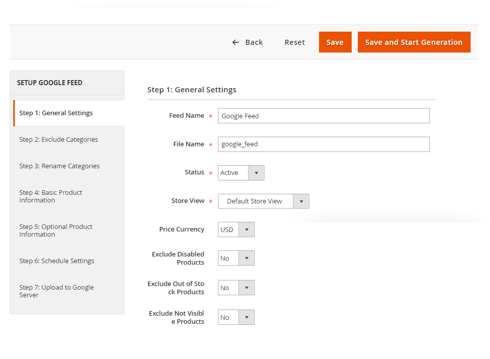 product feed in magento