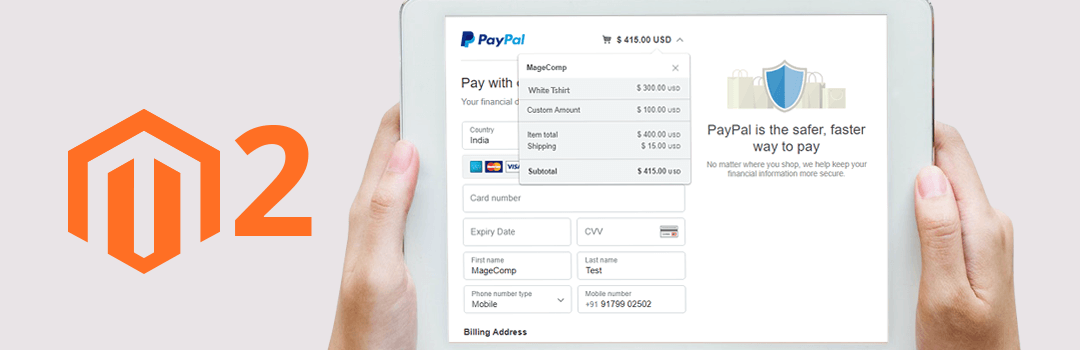 How to manage custom amount with PayPal in Magento 2
