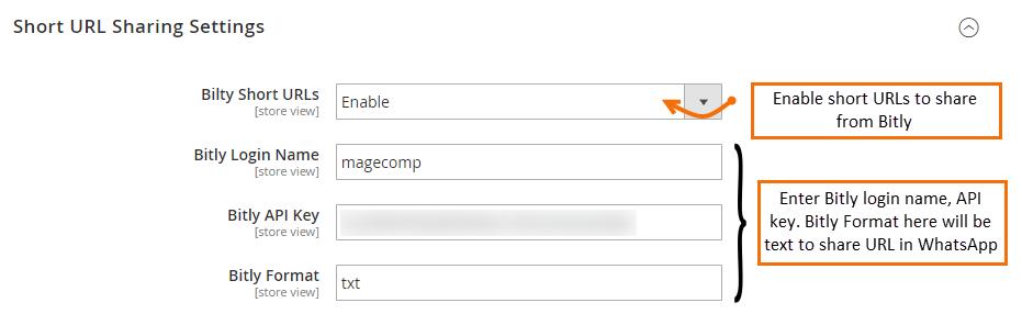 short-url-sharing-settings