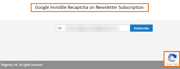google-invisible-recaptcha-on-newsletter-subscription