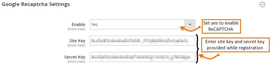 google-recaptcha-settings