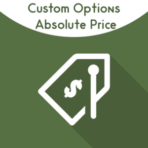 Magento Custome options absolute price