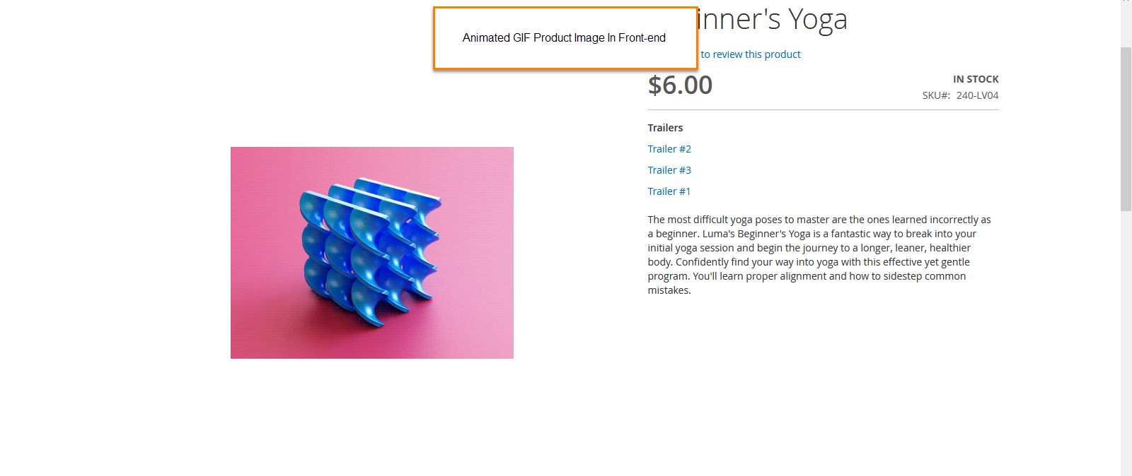 Display product image Frontend