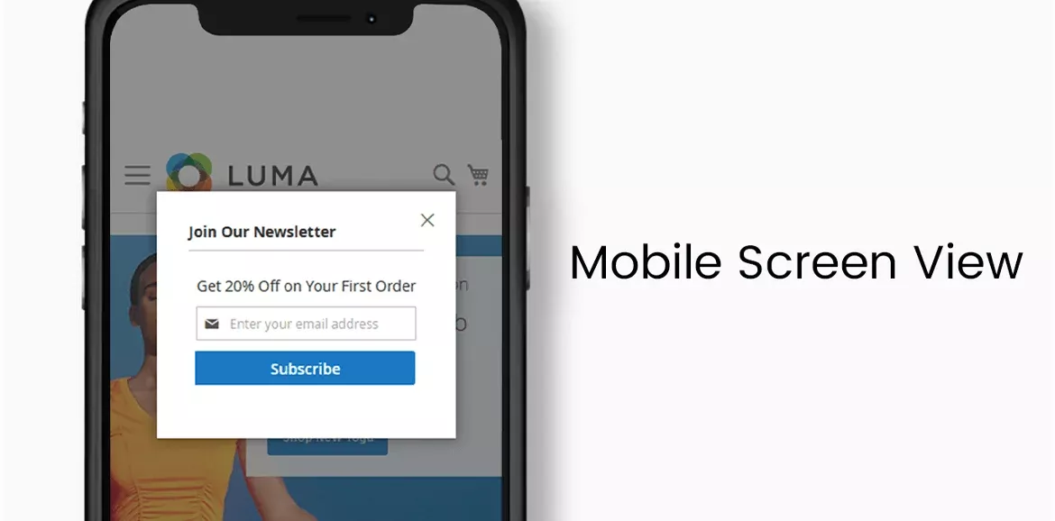 Newsletter Popup of Mobile Screen View